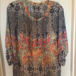Daniel Rainn Sheer Boho Blouse